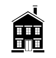 Cute little house with chimney icon simple style vector