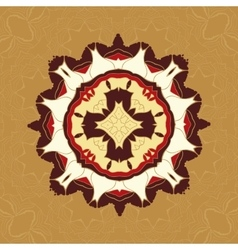 Brown and yellow tiled fabrik ornament gorgeous vector