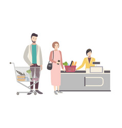Concept for supermarket or shop with vector