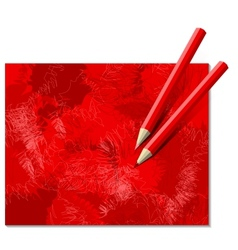 Two red pencils vector