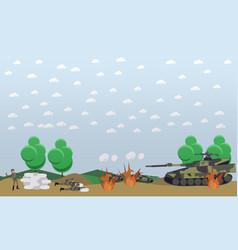 Battlefield concept in flat vector