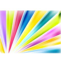 Bright abstract multicolored beams background vector