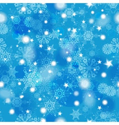 Beautiful blue winter seamless pattern vector