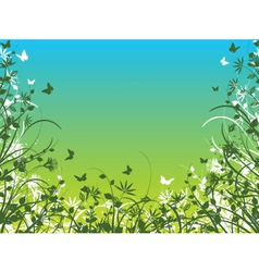 spring foliage vector image