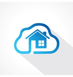 Home icon in cloud shape design concept vector