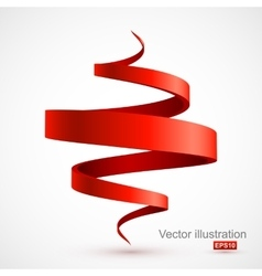 Red spiral 3d vector