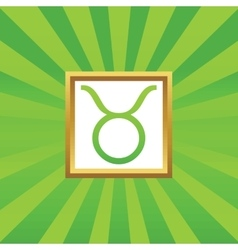 Taurus picture icon vector