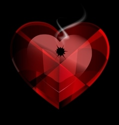 Heart shot vector
