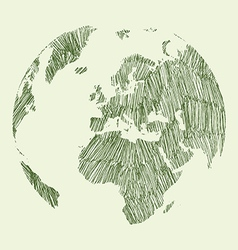 Earth draw vector