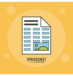 Spreadsheet design business and infographic vector