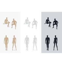 Female and male mannequin vector