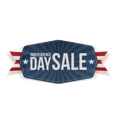 Independence day sale paper banner vector
