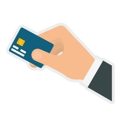 Credit card icon money and financial item vector