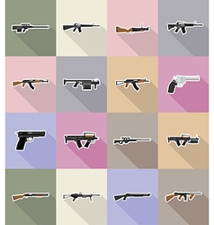 Weapon flat icons 18 vector