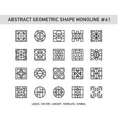 Abstract geometric shape monoline 61 vector