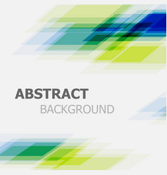 abstract green and blue business straight line vector image vector image