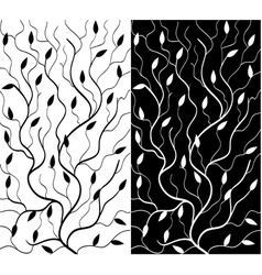 Black and white floral background vector image vector image