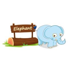 Cartoon zoo elephant sign vector image vector image