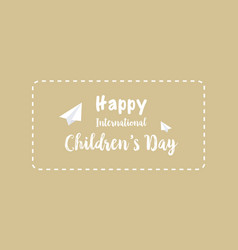 Collection card for childrens day vector