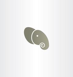 elephant head icon logo vector image