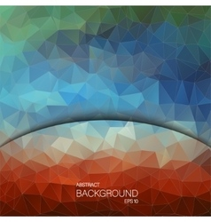 Geometric colorful background Design for web vector image vector image