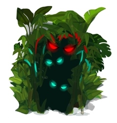 Glowing predators eyes of jungle isolated vector
