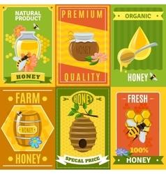 Honey Poster Set vector image vector image