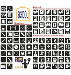 Icons school vector