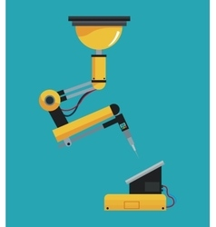 industrial robot arm mechanical vector image