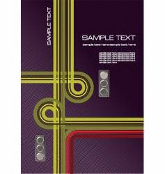 junction and traffic lights vector image