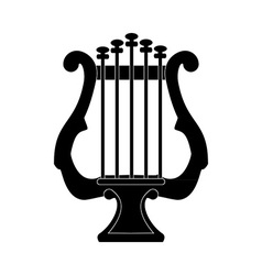 Lyre silhouette vector image
