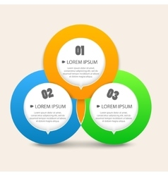 Modern business circle shapes like options banner vector image vector image