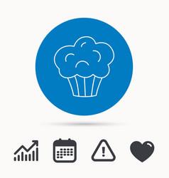 Muffin icon cupcake dessert sign vector
