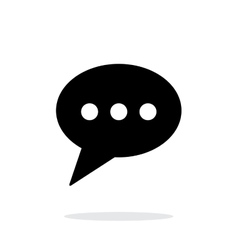 Phone message icon on white background vector