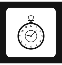 Pocket watch icon simple style vector