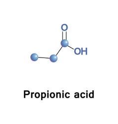 propionic or propanoic acid vector image