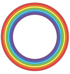 Rainbow circle - element vector