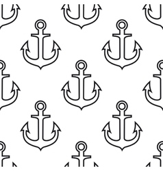 Retro seamless pattern with ship anchors vector image