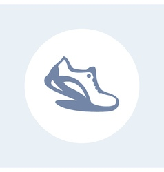 Running icon isolated on white logo element with vector image vector image