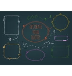 Set Of Handdrawn Frames vector image vector image