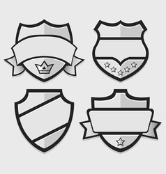 Set of silver retro badges vector image