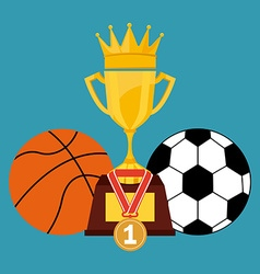Sport icons design vector image vector image