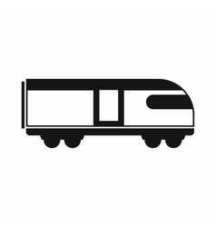 Swiss mountain train icon simple style vector