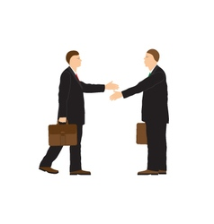 Two businessmen Handshake Greeting Congratulation vector image