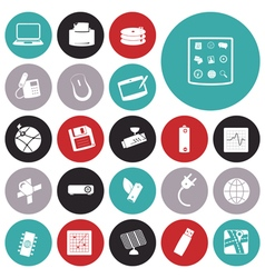 Icons for technology and device vector