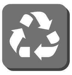 Recycle rounded square icon vector