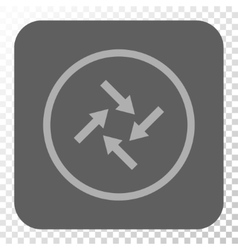 Centripetal arrows rounded square button vector