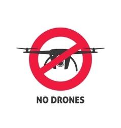 No drone sign vector