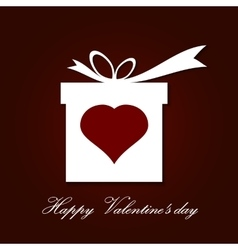 Valentine s day concept with gift box vector