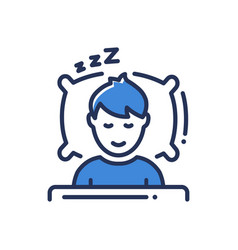 sleep - modern single line icon vector image